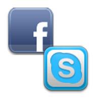 Skype Facebook -Logos