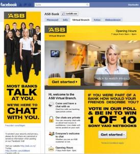 ASB Bank auf facebook