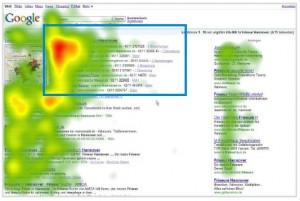 Heatmap Google SERP