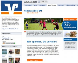 Volksbank Facebook Spendenaktion