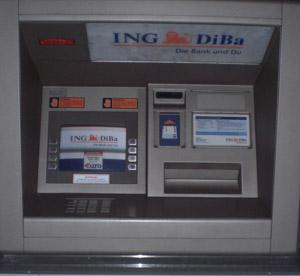 Geldautomat der ING DiBa