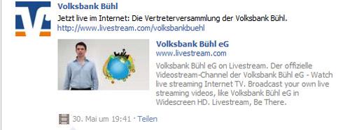 Volksbank Buehl Facebook