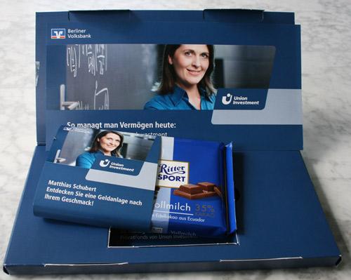 Schokolade von der Bank